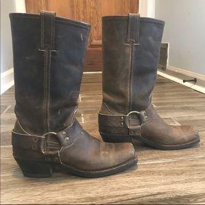 Frye 12R Harness Boots -Tan